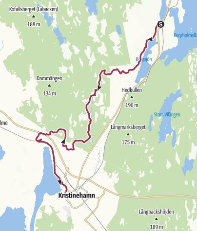 Map / Järnleden - the Iron Trail in Värmland north of Kristinehamn