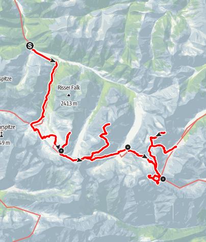 Map / Karwendeltour - Eine Hüttentour für alpine Genießer