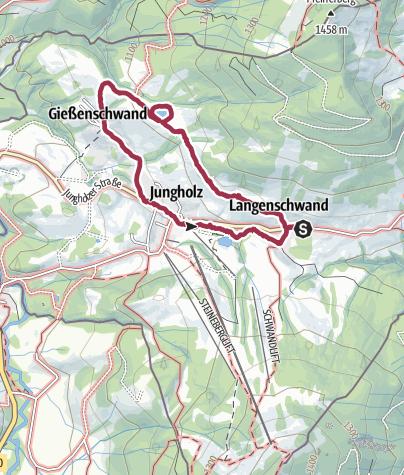 Karte / Höhenwegrunde in Jungholz