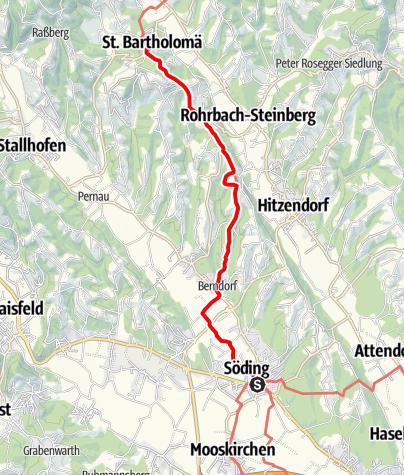 Karte / GUW und Weg 542
