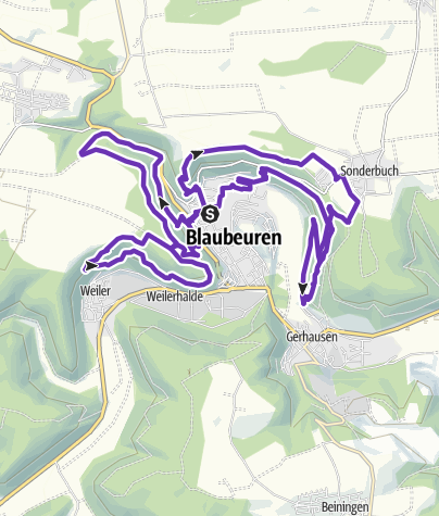 Karte / SALOMON Trails 4 Germany – Blaubeuren – 20 Km