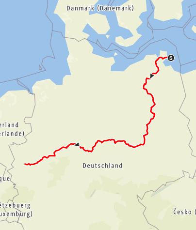 Karte / CARAVAN SALON Route Ost 1