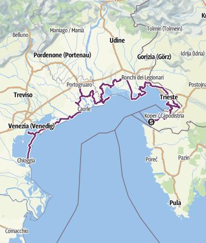 Venedig Karte.Auf Dem Adriabike Radweg Nach Venedig Und Chioggia