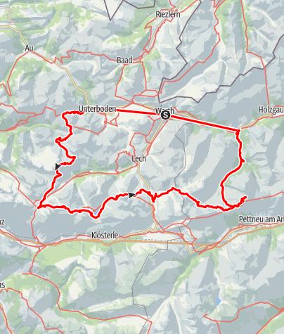Kaart / Lechtaler Alpen 50-plus