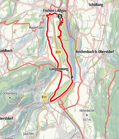 Karte / Wandererlebnisweg: 12 Tore im Fischinger Weidach