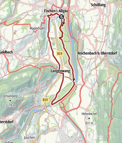 """Karte / Wandern durch die """"12 Tore"""" im Fischinger Weidach"""