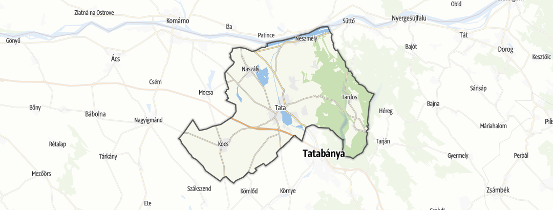 Karte / Service in Tatai járás