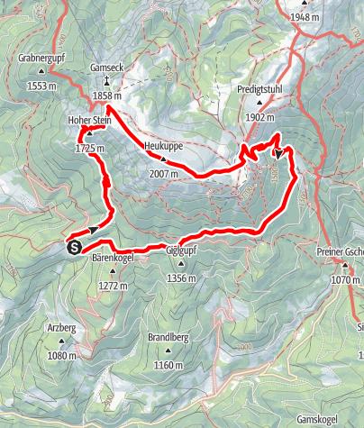 Karte / Auf den Spuren der Bergrettung im Naturpark Mürzer Oberland