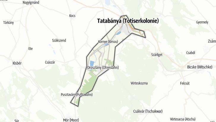 Térkép / Országúti kerékpár,  Által-ér-völgy területén