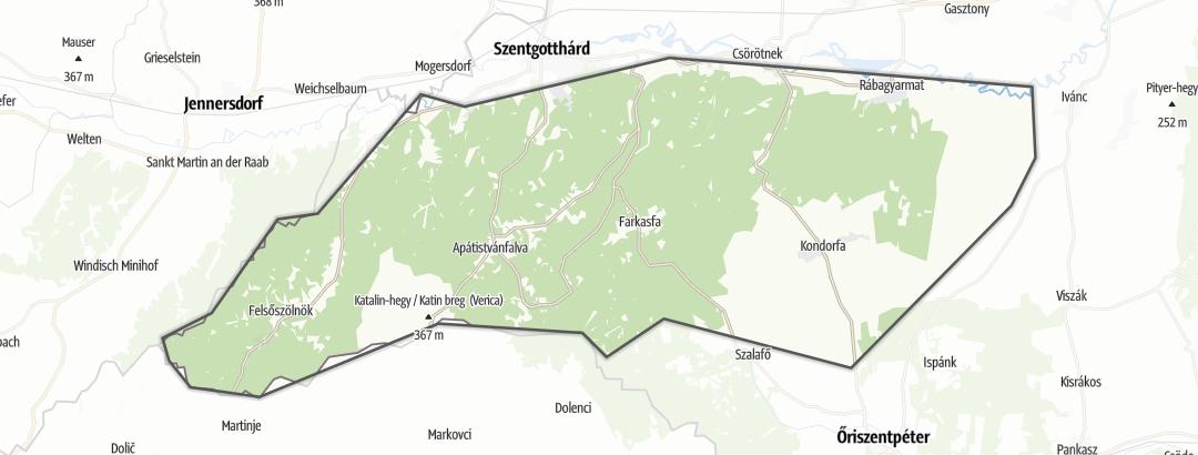 Karte / Wandern in Vasi-Hegyhát