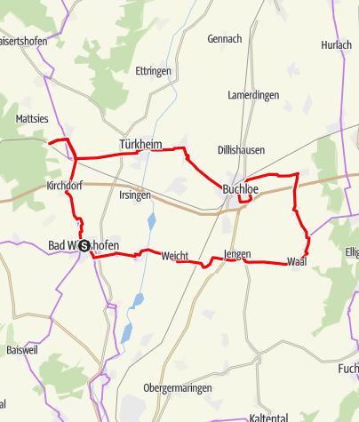 Karte / Biergarten-Radtour