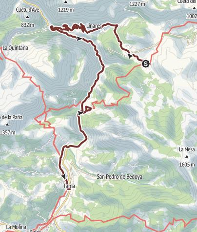 Karte / Camino del Norte: Cicera - Tama