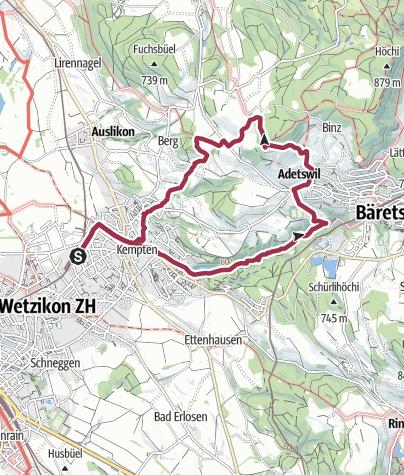 Map / Kempten – Rosinli – Kempten: «Tobelwanderung mit Seesicht»