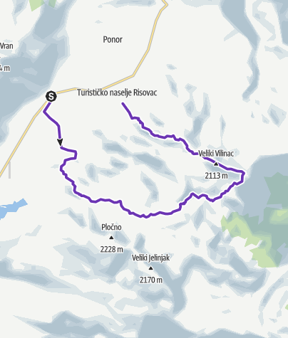 Map / Čvrsnica Ultra Trail - Blue trail 22km