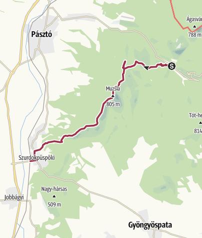 Térkép / Hosszúnadrágos gerinctúra a Muzsla vonulatán