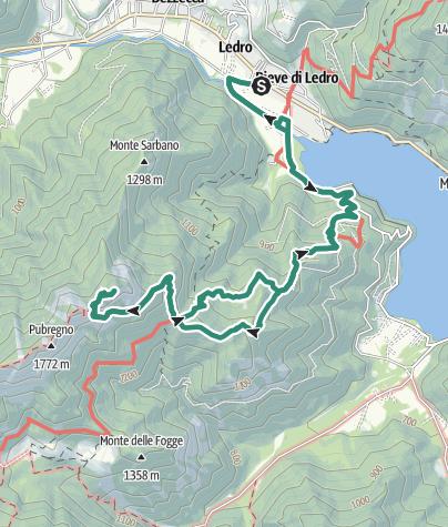 Cartina / Monte Corno: il balcone sul Lago di Ledro
