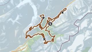 Carte / Itinéraire pour VTT Stoneman Glaciara by Roland Stauder