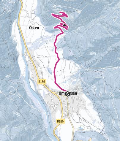 """Map / """"Mure""""- Farsterweg- Farst """"Adlerhorst over the Engelswand"""