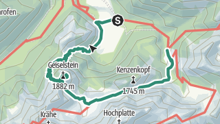 Karte / Geiselstein Normalweg