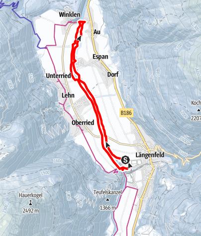 Karte / Auenweg - Längenfeld
