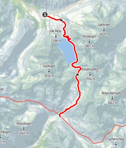Map / Dortmunder Hütte - Schweinfurter Hütte