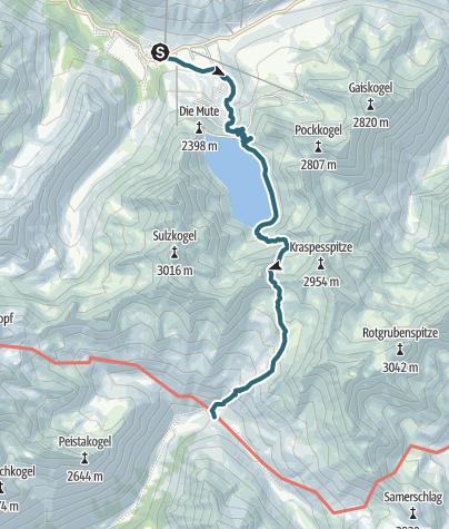 Karte / Dortmunder Hütte - Schweinfurter Hütte