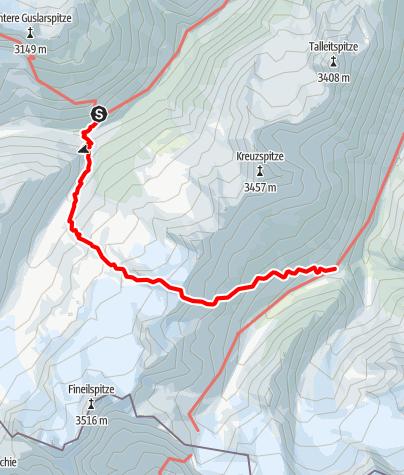 Map / Hochjoch Hospiz - Saykogel - Martin Busch Hütte