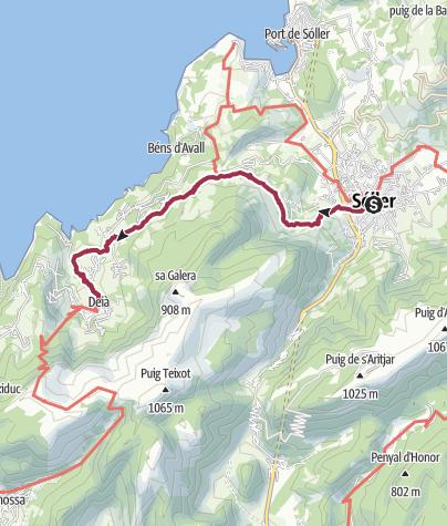 Map / Soller to Deia