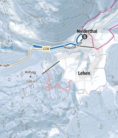 Map / Matau Track - Umhausen-Niederthai