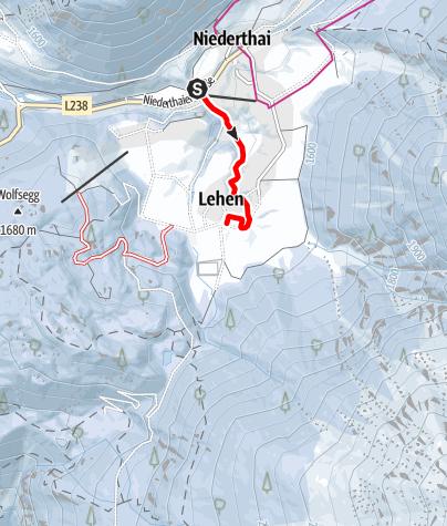 Karte / Zubringerloipe Matau - Umhausen-Niederthai