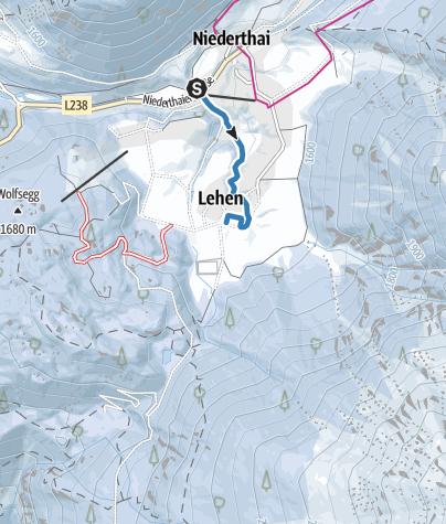 Map / Cross-Country Track Matau Zubringer