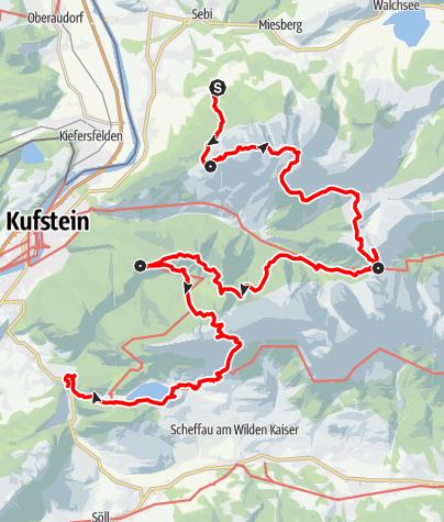 """Map / Kaisertour - Die """"kaiserliche"""" Traumtour für Jung und Alt (Hüttentour)"""