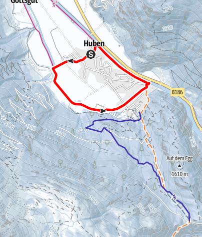 Map / Roundway Huben - Längenfeld