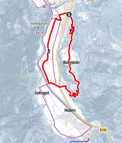 Karte / Rundwanderweg Längenfeld - Burgstein