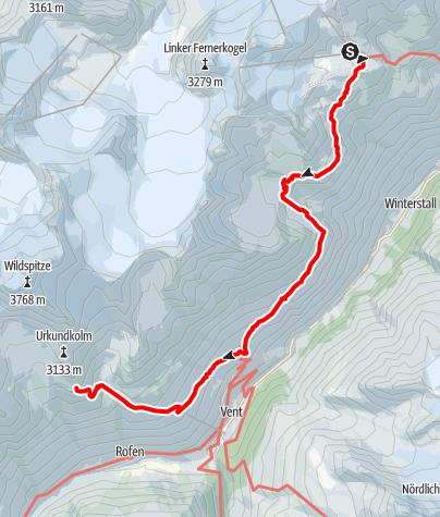Karte / Sölden - Breslauer Hütte