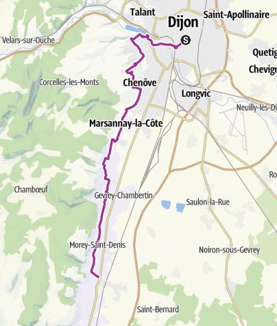 Dijon to Vouegot • Bicycle Ride » outdooractive.com