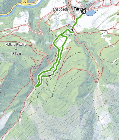 Karte / Zwergenweg - Via dals Nanins
