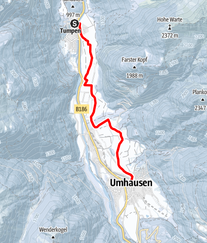 Karte / Tumpen - Umhausen-Niederthai