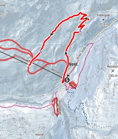 Karte / Vent Rodelweg Stableinalm