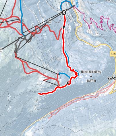Map / Gaislachalm - Silbertal - Sonneck