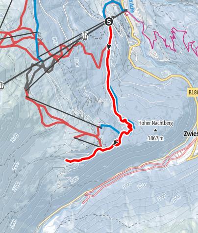 Karte / Sonneck/Gaislachalm/Silbertal - Sölden