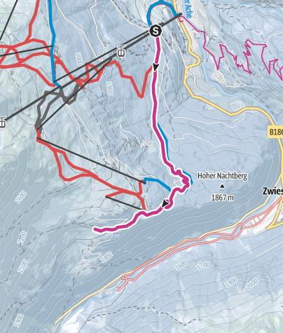 Map / Sonneck/Gaislachalm/Silbertal - Sölden