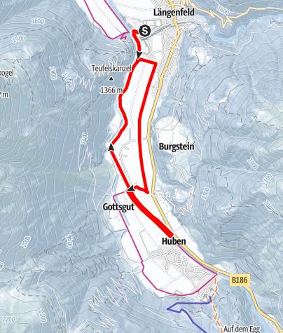 Karte / Rundwanderweg Längenfeld/Huben - Längenfeld