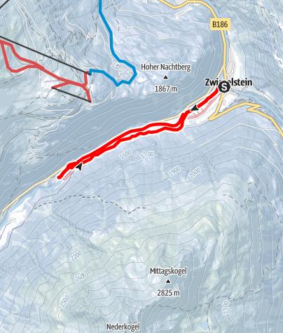 Karte / Zwieselstein/Bodenegg - Sölden