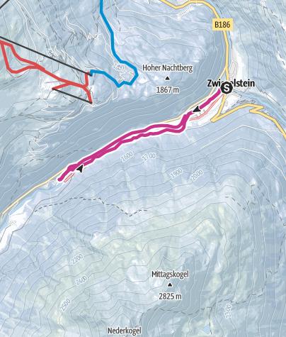 מפה / Zwieselstein/Bodenegg - Sölden