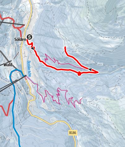 Map / Stallwiesalm - Sölden