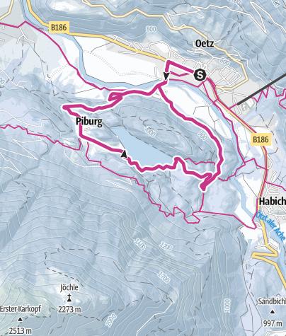 Map / Elsinger Way: Lake Piburger See