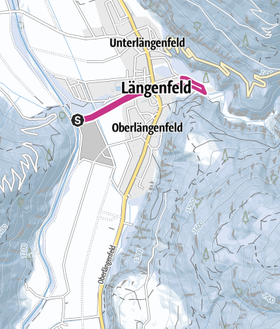 Map / a round of the Fischbach - Längenfeld