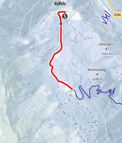 Karte / Köfels - Wurzbergalm