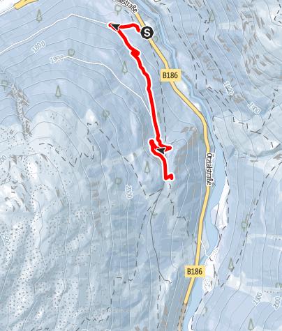 Karte / Lenzenalm - Sölden/Zwieselstein